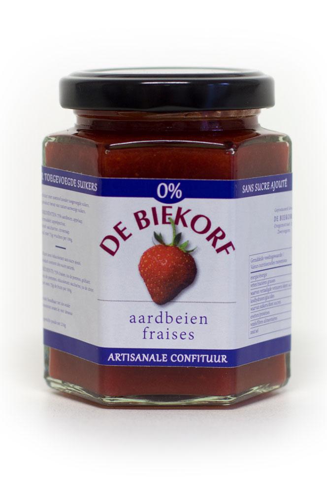 De Biekorf - 0% suiker - Aardbeien