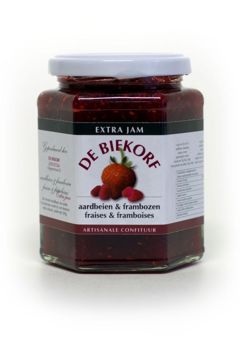 De Biekorf - Extra jam - Aardbeien & frambozen